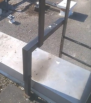 Faulty fixed ladder
