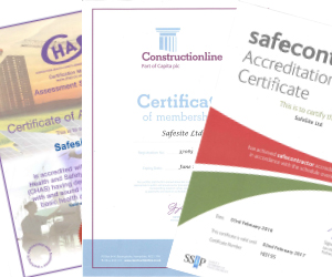 Health and safety accreditations