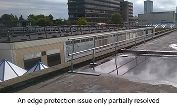 Partial edge protection system