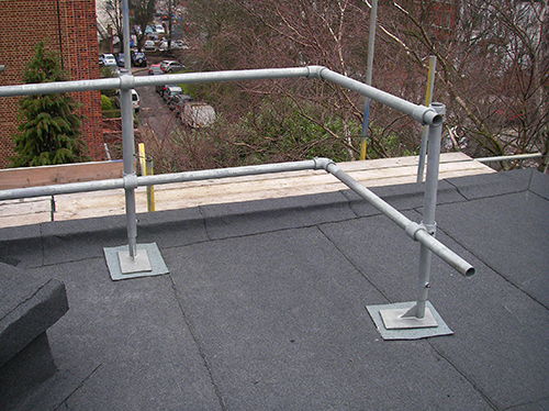 Poorly installed guardrail
