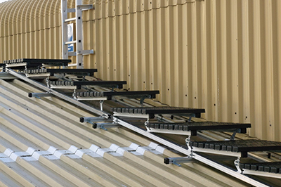 Stepped Kee Walk Walkway and Cat Ladders for roof safety